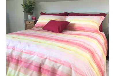Dover Orange Duvet Cover