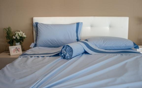 Set lenzuola in cotone con applicazione