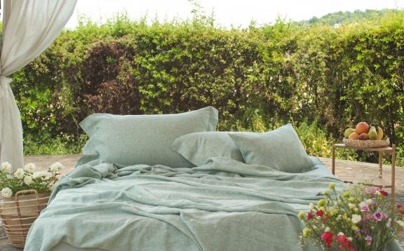 Linen Natural Green