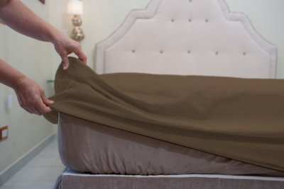 Cotton Fitted Sheets Plain Color