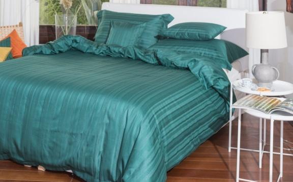 Tess green jaquard stripe.